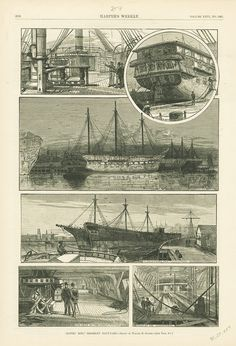 Illustration of the USS Constitution in Harper's Weekly circa 1882