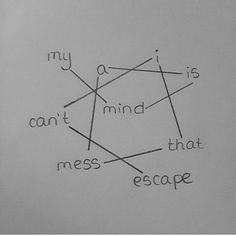 My mind is a mess i can't esscape