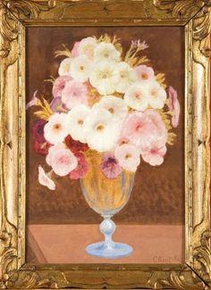Vase de fleurs by Constant Montald
