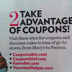 Trying to be a coupon girl...