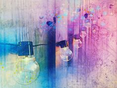 Lovely watercolor and line drawing Light Bulb Art, Lamp Light, Free Pictures, Free Images, Sacred Art, Textured Background, Line Drawing, Cool Art, Room Decor