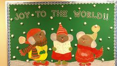 Joy to the World -- Christmas Bulletin Board Toddler Bulletin Boards, World Bulletin Board, Christmas Bulletin Boards, Christmas Classroom Door, Classroom Bulletin Boards, Classroom Decor, Classroom Supplies, Future Classroom, Bible Lessons For Kids