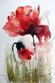 Akwarela - Szukaj W loose garden painting Watercolor Poppies, Watercolor Cards, Watercolor Illustration, Watercolor Paintings, Watercolors, Abstract Flowers, Botanical Art, Flower Art, Artwork