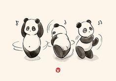'Panda Food Dance' Travel Mug by Panda And Polar Bear Panda Wallpapers, Cute Wallpapers, Animal Drawings, Cute Drawings, Panda Food, Panda Illustration, Cartoon Panda, Panda Party, Bild Tattoos