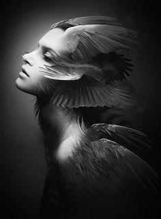 black-white-madness:  Madness:  WINGED ANGEL by Soufiane Idrassi