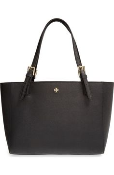 Tory Burch 'Small York' Saffiano Leather Buckle Tote available at #Nordstrom