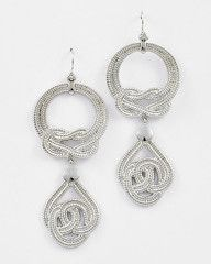 Knot to be Forgotten Large Silver Statement Earrings-$24-Find hot fashion jewellery and statement jewlry at Strike Envy. #jewellery #jewlry