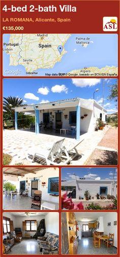 4-bed 2-bath Villa in LA ROMANA, Alicante, Spain ►€135,000 #PropertyForSaleInSpain