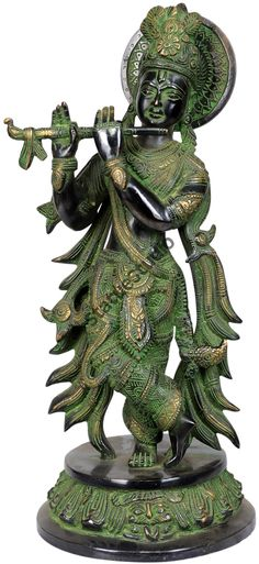 StatueStudio Lord Shri Krishna Murti This beautiful Krishna statue is a perfect addition to any home or office. Krishna Statue, Sculptures, Lion Sculpture, Indian Goddess, Nataraja, Hindu Deities, God Pictures, Krishna Images, Radhe Krishna