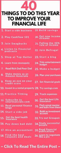 Amazing Ways To Improve Your Finances This Year - SmartNancials - Finance tips, saving money, budgeting planner Ways To Save Money, Money Tips, Money Saving Tips, Saving Ideas, Money Budget, Managing Money, Money Hacks, Financial Peace, Financial Tips