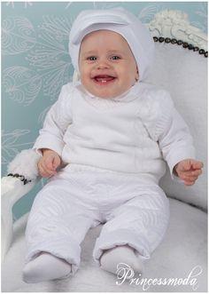 MAURIZ - Winterlicher Taufanzug in weiß! Warme Jacke und Hose! - Princessmoda - Alles für Taufe Kommunion und festliche Anlässe