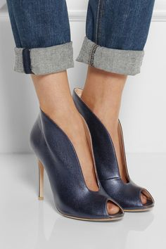 Gianvito Rossi|Cutout metallic leather ankle boots |NET-A-PORTER.COM