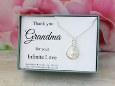 Gift for grandma gift sterling silver infinity by SilverStamped