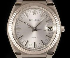 Rolex Very Rare Texan Beta 21 Vintage Gents 18k White Gold Silver Dial 5100