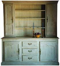 3 Drawer Country French Sideboard w 3 Shelf Hutch