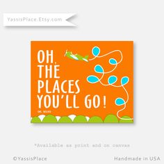 Baby+Boy+Wall+Decor+Dr+Seuss+Nursery+Oh+The+Places+by+YassisPlace,+$10.00