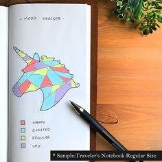 A Unicorn Mood Tracker Bullet Journal Stickers Bujo Stickers