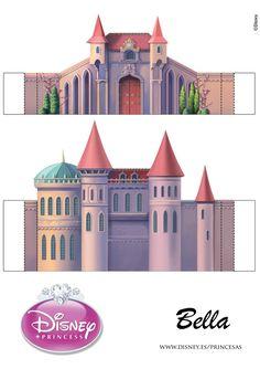 Castle page 2 of 5 Fairy Tale Crafts, Disney Paper Dolls, 3d Templates, Disney Princess Castle, House Template, Paper Dolls Printable, Putz Houses, Paper Houses, Disney Crafts