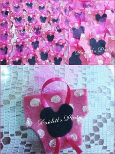Minnie mouse baby shower corsages