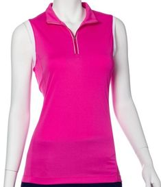 If you're in the market for some new outfits, consider our women's apparel! Shop this comfortable and stylish The Taj (Rosa Multi) EP New York Ladies & Plus Size Sleeveless Golf Shirts from Lori's Golf Shoppe.