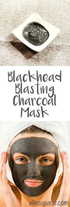 Blackhead Blasting Charcoal Mask  Stain-free recipe for a diy charcoal mask. This mask uses charcoal powder, tea tree oil and a secret ingredient that keeps the mask from staining your skin. #TeaTreeOil