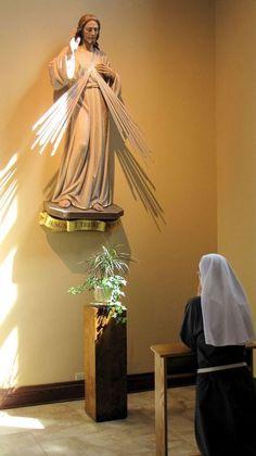 Nun praying