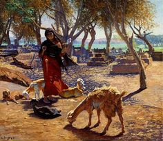 Deutsch, Ludwig (1855-1935) - 1911 The Young Goat Herder o… | Flickr