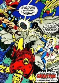 The Avengers vs Graviton, Gil Kane, Sal Buscema, Jim Shooter, 1970s, floating island, Agents of SHIELD: one of my fave stories as a kid!
