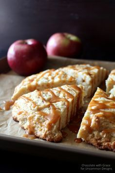 Whip up a batch of caramel apple scones with this simple recipe!
