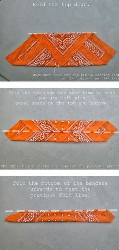 How to fold a bandana