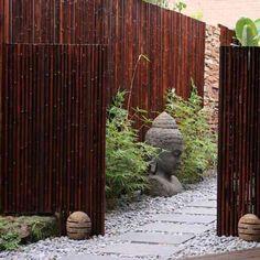 Clôture en bambou noir naturel DOTU - 2,50xH2m, Canisse en bambou ...