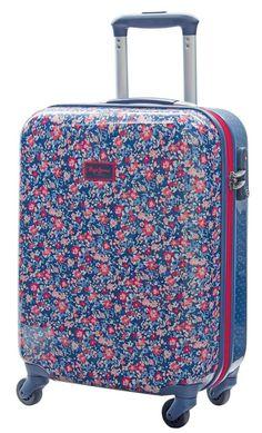 Maleta tamaño cabina especial equipaje de mano, modelo Edna de Pepe Jeans London, color azul de diseño juvenil
