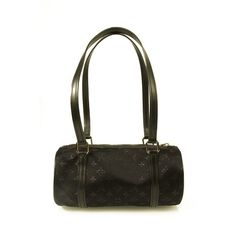 af72485dca51 Louis Vuitton Mini Evening Black Satin Papillion monogram bag barrel handbag  Black Fabric