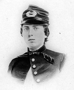 U.S. Lieutenant Alonzo Cushing commanded Battery A, 4th U.S. Artillery during the Civil War. While commanding his guns, on Cemetery Ridge at Gettysburg, he would be wounded twice. He would be held up so he continue commanding during Pickett's Charge. Finally he would be shot through the head - dying instantly. He is due to receive the Medal of Honor for his courageous actions at Gettysburg.