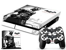 PS4 PlayStation 4 Console Skin Decal Sticker Batman Arkham + 2 Controller Set