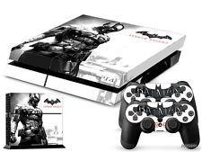 PS4 PlayStation 4 Console Skin Decal Sticker Batman Arkham + 2 Controller Set