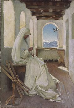 Marianne Stokes - Saint Elizabeth working for the poor (ca. 1920)