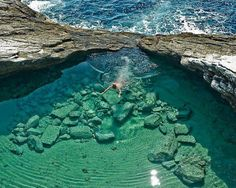 Top 10 most spectacular tourist places in the world: Laguna Giola in Thassos, Greece