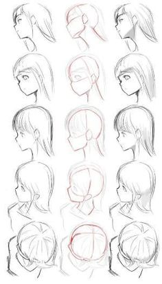 ▷ 1001 + ideas on how to draw anime - tutorials + pictures face drawing, from different angles, anime boy drawing, black and white, pencil sketch Drawing Reference Poses, Drawing Poses, Drawing Tips, Hair Reference, Design Reference, Art Drawings Sketches, Pencil Drawings, Pencil Art, Easy Manga Drawings