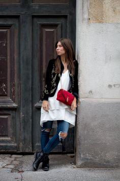OUTFIT: Zara velvet blazer embellished | #Bikinis & Passports