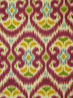 """Alhambra Amour Radicchio.100% cotton for Drapery, Bedding, Pillows, Light Use Furniture. 12.63"""" vertical repeat, waybond finish, 54"""" wide."""