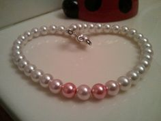 Breast cancer awearness necklace