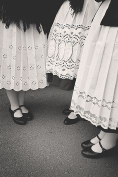 Traditional folk dresses in the grape harvest parade in Somló, Hungary on September 20th 2008.