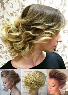 loose curly updos key for volume is to have tight finger rolled curls to start