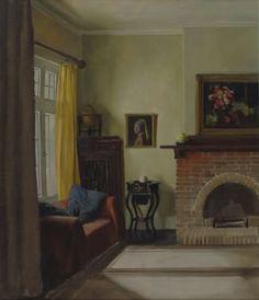 Nora Heysen (Australian, 1911-2003) - Cedars interior, 1930's Light Of Life, Australian Artists, Beautiful Interiors, 1930s, Artsy, Windows, Crafty, Home Decor, Tela