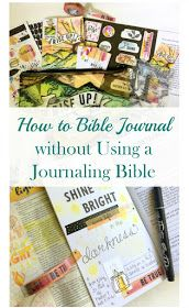 How to Bible Journal without Using a Journaling Bible