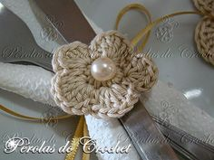 * Pérolas do Crochet: Jogo Sousplat, porta-copos e porta-guardanapos em crochet