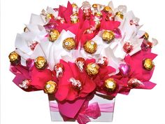 Pretty in Pink, Boxed Chocolate Bouquet