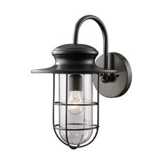 Features:  -One light outdoor wall lantern.  -Matte black finish.  -Portside collection.  Fixture Type: -Wall lantern.  Finish: -Matte black.  Hardware Finish: -Matte black.  Fixture Material: -Metal.