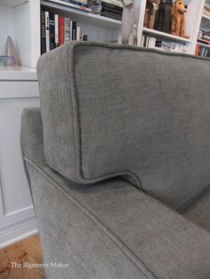 I Used Pottery Barn Performance Tweed To Make This Custom Slipcover For A  Harding Sofa.